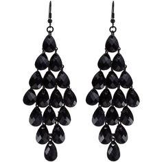 OASIS Chandelier Drop Earrings ($6.44) ❤ liked on Polyvore featuring jewelry, earrings, accessories, brincos, boucles d'oreilles, black, chandelier drop earrings, long chandelier earrings, drop earrings and long earrings