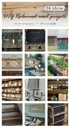 24 Uses for Reclaimed Wood: LOTS of DIY Home Ideas!