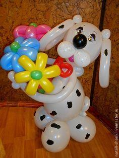 Праздничная атрибутика ручной работы. Ярмарка Мастеров - ручная работа Собачка из воздушных шаров-подарок к празднику. Handmade.