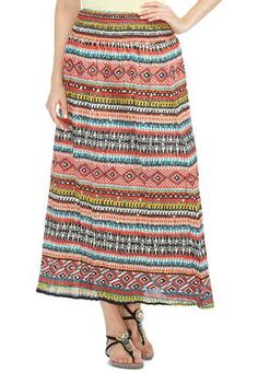 dd15e812bd Cato Fashions Aztec Print Smocked Waist Peasant Skirt  CatoFashions   catosummerstyle Peasant Skirt