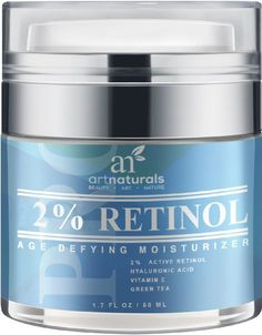 Art Naturals Enhanced Retinol Cream Moisturizer with 20% Vitamin C & Hyaluronic Acid - Best Anti Wrinkle, Anti Aging Serum for Face & Sensitive Skin -Clinical Strength Organic Ingredients 1.7oz