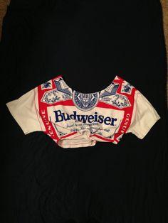 Vintage Deadstock Budweiser Swag Top fits
