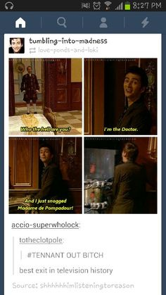 How the Doctor exits