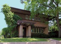 Purcell & Elmslie's Backus House in Minneapolis, 1915, the smallest Prairie School house anywhere.
