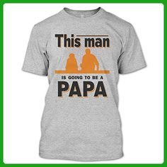 Funny This Man Is Going To Be A Papa T Shirt, Best Papa Shirt, Father's Day Shirt Unisex (M,Sport Grey) - Relatives and family shirts (*Amazon Partner-Link)