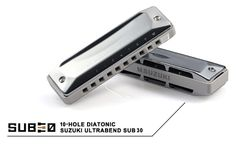 SUB 30 diatonic harmonica.  In order to play a chromatic scale on the normal 10 hole harmonica, you have to use the difficult overblow/overdraw techniques, which require harmonicas with very delicate reed setup. The new Suzuki UltraBend changes all that! Now you can get a chromatic scale by normal playing plus simple bending technique. With the SUB30, you can easily play phrases and music styles that you gave up on before, because you could not get some notes.