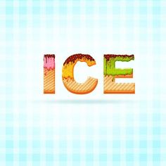 Create an Ice Cream Text Effect in Photoshop, #Food, #Ice _Cream, #Photoshop, #Resource, #Text_Effect, #Tutorial