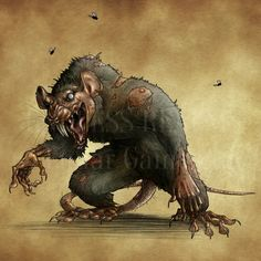 Endless Realms bestiary - Giant Rat by jocarra.deviantart.com on @DeviantArt