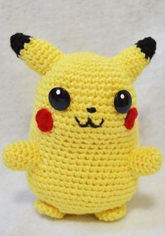 Pikachu Crochet: Patrón GRATIS en Español e Inglés / FREE English and Spanish Pattern