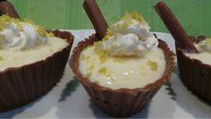 Poder nas mãos: Cestinhas de chocolate com mousse de limão sicilia...