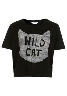 ++ Black Monogram Short Sleeve Cotton Blend T-Shirt