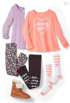 Current obsession: bright tops, comfy bottoms and messages that shine with positivity. Cute Girl Outfits, Kids Outfits Girls, Tween Girls, Party Outfits, Holiday Outfits, Girls Fashion Clothes, Tween Fashion, Fashion Outfits, Fashion 2016