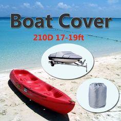 210D Oxford V-Hull Motoscafo Copertura 17-19ft Alta Qualità Prevenire UV Sunproof Impermeabile grigio Copertura Della Barca