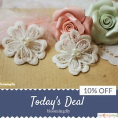 Today Only! 10% OFF this item.  Follow us on Pinterest to be the first to see our exciting Daily Deals. Today's Product: Sale - 10% OFF 2 PCs Beige lace DIY Handmade Black Double Flower Lace Patch Applique for Clothing, Dress, Bags, WL415 Buy now: https://www.etsy.com/listing/257287512?utm_source=Pinterest&utm_medium=Orangetwig_Marketing&utm_campaign=10%25%20OFF   #etsy #etsyseller #etsyshop #etsylove #etsyfinds #etsygifts #musthave #loveit #instacool #shop #shopping #onlineshopping…