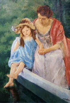 Mary Cassatt (American artist, 1844-1926) Mother and Child in a Boat 1909