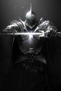 Knight Sketch by ChrisBjors.deviantart.com on @deviantART