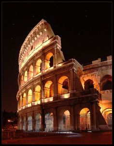 The Colosseum, Rome, Italy. I finally got to see this for real. So beautiful.