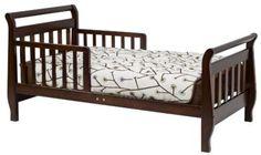 Toddler Bed Espresso Wood Davinci Sleigh Kids Furniture Bedroom Boys Girls Safe…
