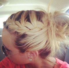 Side braided messy bun
