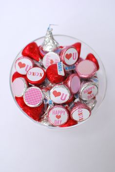 Free Valentine's Day Candy Circles Printable