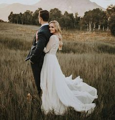 Long Sleeve Wedding Dress | Rustic
