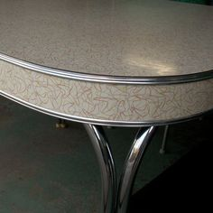 I love boomerang--sweet table! Vintage Formica and chrome...