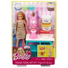 Cook up some fun with this Barbie Stacie Doll and Breakfast Playset! Barbie Stacie Doll, Barbie Chelsea Doll, Barbie Toys, Doll Toys, Dolls, Barbie Club, Barbie Life, American Girl Doll Hospital, Kids Toys For Christmas