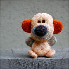 Needle Felted Little Puppy Teddy