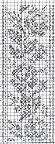 Filet Crochet, Crochet Motifs, Crochet Borders, Crochet Chart, Thread Crochet, Easy Crochet Patterns, Crochet Designs, Crochet Doilies, Crochet Stitches