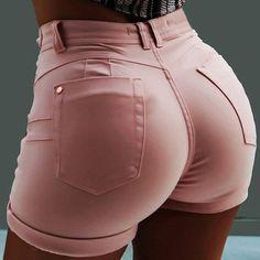 Trend Fashion, Fashion Moda, Women's Summer Fashion, Fashion Pants, Ladies Fashion, Fashion 2018, Women's Fashion, Hot Shorts, Skinny Shorts