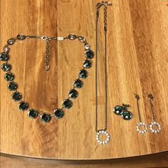 Sabika It Girl Set Includes the Edition It Girl Vienna Choker, Vienna earrings, ring necklace, and circle drop earrings. Purchased during season but never worn!!! Sabika Jewelry Necklaces