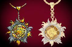 """Eternal Sun""    18 Karat Yellow Sapphire & Diamond 2012 Best In Show"