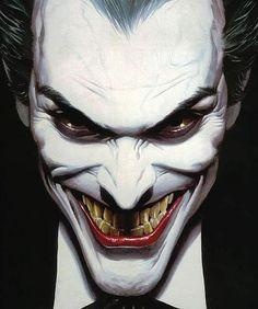 조커 Joker by Alex Ross. Art Du Joker, Le Joker Batman, Joker And Harley Quinn, Joker Comic, Joker Cartoon, The Joker, Joker Heath, Black Batman, Batman Stuff