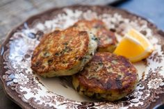 Colcannon Cakes ~ Fried potato patties made from leftover colcannon, a combination of mashed potatoes, kale or other greens, and scallions or green onions. ~ SimplyRecipes.com