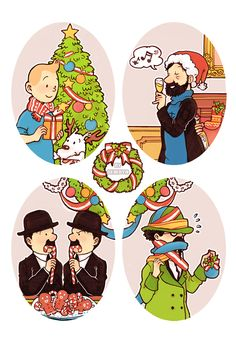 Tintin : Merry Christmas by ~seikuya on deviantART