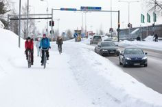 Image for Winter cycling in Oulu, Finland