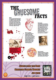 To finish off our week of Halloween celebrations, we bring you these amazing gruesome facts from our spooktastic book, 'Monsters, Zombies, Vampires & More'!