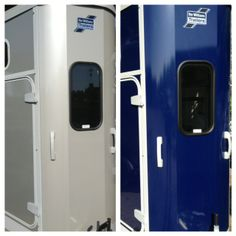 Ifor Williams Horse Trailers In Silver & Bala Blue. The New HB506 & HB511 Range Come Standard With A Larger Front Window.
