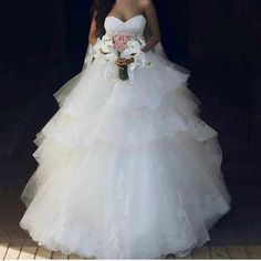 Find More Wedding Dresses Information about 2017 Ball Gown Wedding Dresses Off the Shoulder Sweetheart Appliqued Sleeveless Tiered  vestidos de novia robe de mariag,High Quality robe de mariage,China gown wedding Suppliers, Cheap vestidos de novia from Hello May Dresses Custom Made on Aliexpress.com