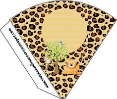 Safari - Kit Completo com molduras para convites, rótulos para guloseimas, lembrancinhas e imagens!