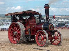Antique Tractors, Vintage Tractors, Old Tractors, Vintage Cars, Antique Cars, Steam Tractor, Old Farm Equipment, Steam Engine, Travel Alone