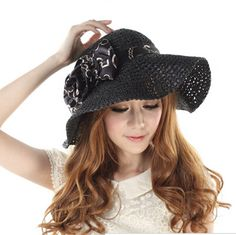 1f513b18d0550 Bow bowler straw hats for women summer beach UV ladies sun hats