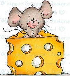 The Big Cheese - Mice - Animals - Rubber Stamps - Shop