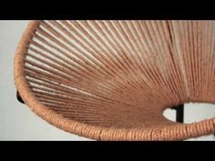 COMO TEJER UNA SILLA ACAPULCO GRANDE - YouTube L Couch, Macrame Chairs, Acapulco Chair, Minimalist Furniture, Macrame Tutorial, Muted Colors, Decorating Tips, Home Furnishings, Wicker
