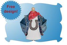 Free Embroidery Design: Horseshoe Applique - I Sew Free