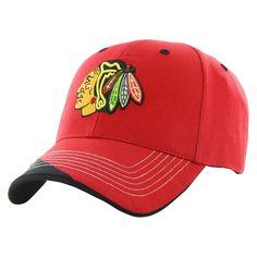 NHL Chicago Blackhawks Fan Favorite Mass Hubris Cap, Adult Unisex