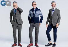 Grey Tweed Suit- 3 Ways (GQ)