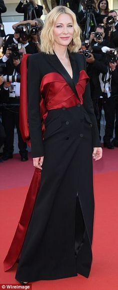 Statement look: Cate Blanchett stole the show as she attended the closing ceremony and premiere of The Man Who Killed Don Quixote on Saturday