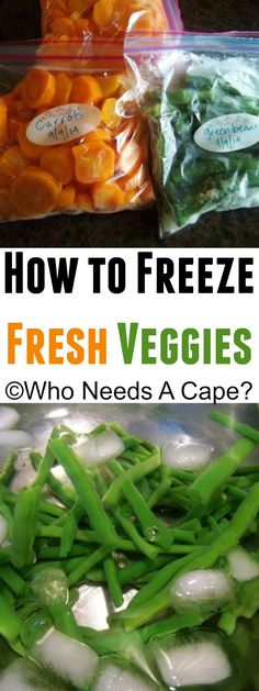 Don't let your garden gems to to waste! Learn how to easily freeze veggies!