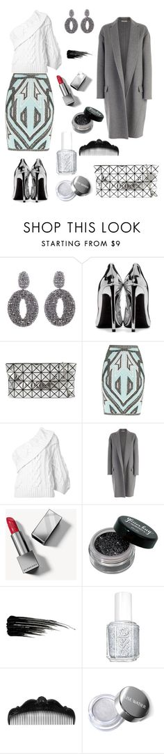 """Outfit 51"" by bagordocinzia ❤ liked on Polyvore featuring Oscar de la Renta, Yves Saint Laurent, Bao Bao by Issey Miyake, Hervé Léger, Rosie Assoulin, CÉLINE, Burberry, Urban Decay, Essie and Anna Sui"